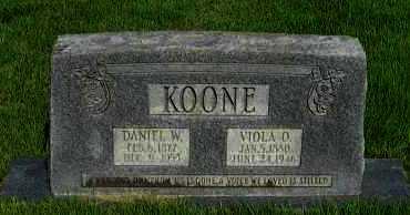 KOONE, DANIEL W - Van Buren County, Arkansas | DANIEL W KOONE - Arkansas Gravestone Photos