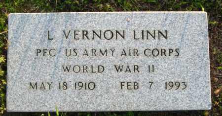 LINN  (VETERAN WWII), L. VERNON - Van Buren County, Arkansas | L. VERNON LINN  (VETERAN WWII) - Arkansas Gravestone Photos
