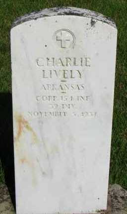 LIVELY (VETERAN), CHARLIE - Van Buren County, Arkansas | CHARLIE LIVELY (VETERAN) - Arkansas Gravestone Photos