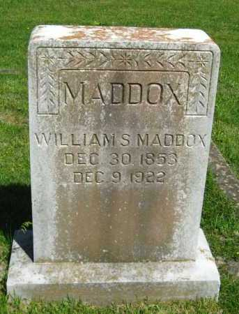 MADDOX, WILLIAM S - Van Buren County, Arkansas | WILLIAM S MADDOX - Arkansas Gravestone Photos