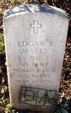 MAPES (VETERAN WWII), EDGAR S - Van Buren County, Arkansas | EDGAR S MAPES (VETERAN WWII) - Arkansas Gravestone Photos