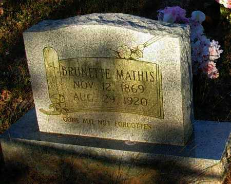 MATHIS, BRUNETTE - Van Buren County, Arkansas | BRUNETTE MATHIS - Arkansas Gravestone Photos