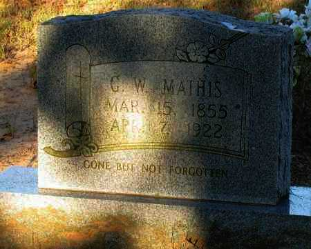 MATHIS, G W - Van Buren County, Arkansas | G W MATHIS - Arkansas Gravestone Photos