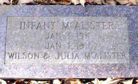 MCALISTER, INFANT - Van Buren County, Arkansas | INFANT MCALISTER - Arkansas Gravestone Photos