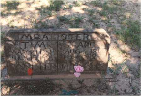 "MCALISTER, JAMES RICHARD ""JIM"" - Van Buren County, Arkansas 