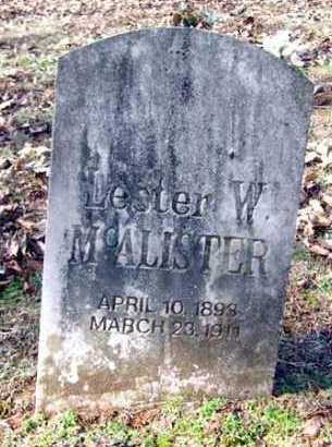 MCALISTER, LESTER W. - Van Buren County, Arkansas | LESTER W. MCALISTER - Arkansas Gravestone Photos