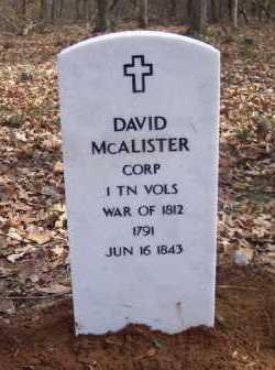 MCALISTER (VETERAN 1812), DAVID - Van Buren County, Arkansas | DAVID MCALISTER (VETERAN 1812) - Arkansas Gravestone Photos