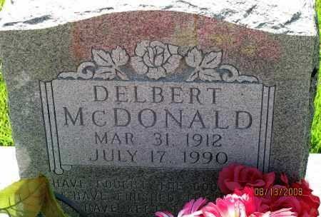 MCDONALD, DELBERT - Van Buren County, Arkansas | DELBERT MCDONALD - Arkansas Gravestone Photos