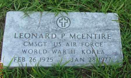 MCENTIRE (VETERAN 2 WARS ), LEONARD P - Van Buren County, Arkansas | LEONARD P MCENTIRE (VETERAN 2 WARS ) - Arkansas Gravestone Photos