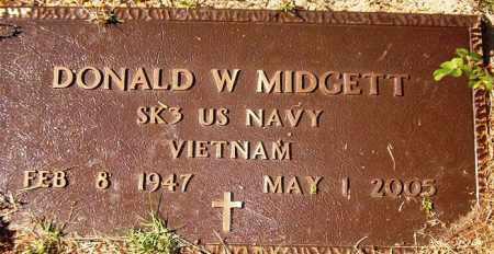 MIDGETT  (VETERAN VIET), DONALD W - Van Buren County, Arkansas | DONALD W MIDGETT  (VETERAN VIET) - Arkansas Gravestone Photos