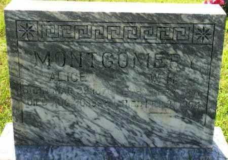 MONTGOMERY, ALICE - Van Buren County, Arkansas | ALICE MONTGOMERY - Arkansas Gravestone Photos