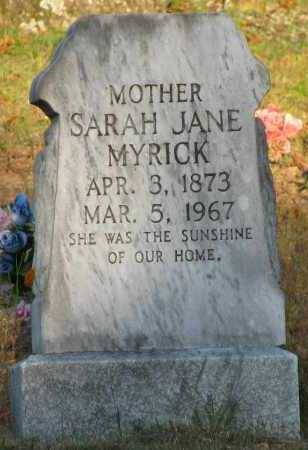 MYRICK, SARAH JANE - Van Buren County, Arkansas | SARAH JANE MYRICK - Arkansas Gravestone Photos