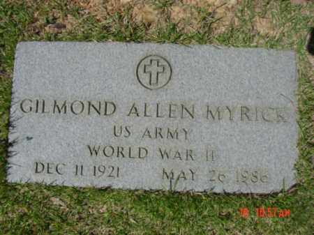 MYRICK (VETERAN WWII), GILMOND ALLEN - Van Buren County, Arkansas | GILMOND ALLEN MYRICK (VETERAN WWII) - Arkansas Gravestone Photos