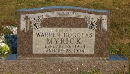 MYRICK, WARREN DOUGLAS - Van Buren County, Arkansas | WARREN DOUGLAS MYRICK - Arkansas Gravestone Photos