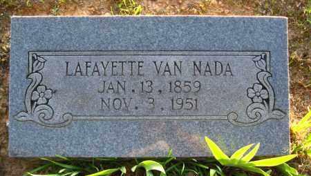 NADA, LAFAYETTE VAN - Van Buren County, Arkansas | LAFAYETTE VAN NADA - Arkansas Gravestone Photos