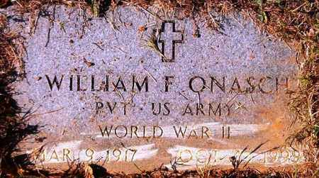 ONASCH  (VETERAN WWII), WILLIAM F - Van Buren County, Arkansas | WILLIAM F ONASCH  (VETERAN WWII) - Arkansas Gravestone Photos