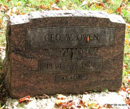 OWEN, GEORGE W - Van Buren County, Arkansas | GEORGE W OWEN - Arkansas Gravestone Photos