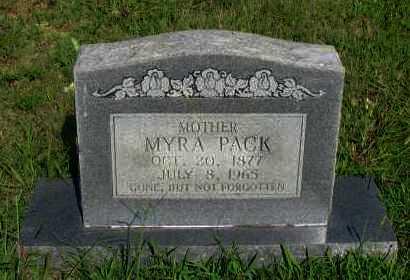 PACK, MYRA - Van Buren County, Arkansas | MYRA PACK - Arkansas Gravestone Photos