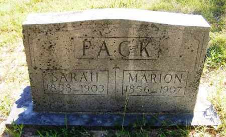 PACK, MARION - Van Buren County, Arkansas | MARION PACK - Arkansas Gravestone Photos