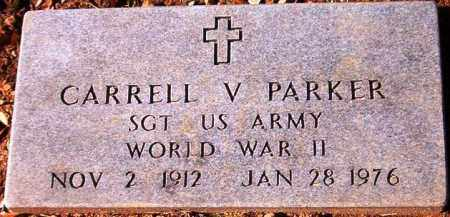 PARKER  (VETERAN WWII), CARRELL V - Van Buren County, Arkansas | CARRELL V PARKER  (VETERAN WWII) - Arkansas Gravestone Photos