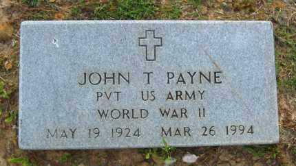 PAYNE  (VETERAN WWII), JOHN T - Van Buren County, Arkansas | JOHN T PAYNE  (VETERAN WWII) - Arkansas Gravestone Photos