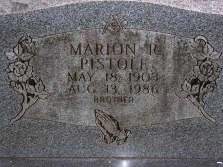 PISTOLE, MARION R. - Van Buren County, Arkansas | MARION R. PISTOLE - Arkansas Gravestone Photos