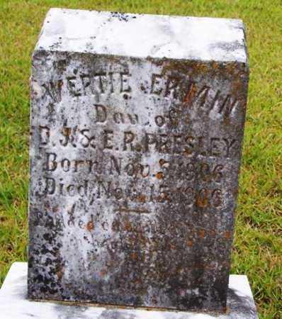 PRESLEY, WERTIE ERMIN - Van Buren County, Arkansas | WERTIE ERMIN PRESLEY - Arkansas Gravestone Photos
