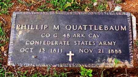 QUATTLEBAUM (VETERAN CSA), PHILLIP M. - Van Buren County, Arkansas | PHILLIP M. QUATTLEBAUM (VETERAN CSA) - Arkansas Gravestone Photos