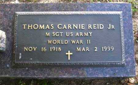 REID, JR  (VETERAN WWII), THOMAS CARNIE - Van Buren County, Arkansas | THOMAS CARNIE REID, JR  (VETERAN WWII) - Arkansas Gravestone Photos
