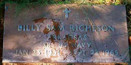 RICHESON  (VETERAN), BILLY SAM - Van Buren County, Arkansas | BILLY SAM RICHESON  (VETERAN) - Arkansas Gravestone Photos