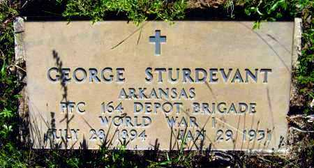STURDEVANT  (VETERAN WWI), GEORGE - Van Buren County, Arkansas | GEORGE STURDEVANT  (VETERAN WWI) - Arkansas Gravestone Photos
