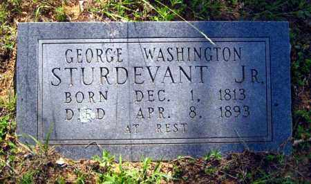 STURDEVANT, JR, GEORGE WASHINGTON - Van Buren County, Arkansas | GEORGE WASHINGTON STURDEVANT, JR - Arkansas Gravestone Photos