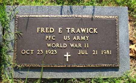 TRAWICK (VETERAN WWII), FRED E - Van Buren County, Arkansas | FRED E TRAWICK (VETERAN WWII) - Arkansas Gravestone Photos