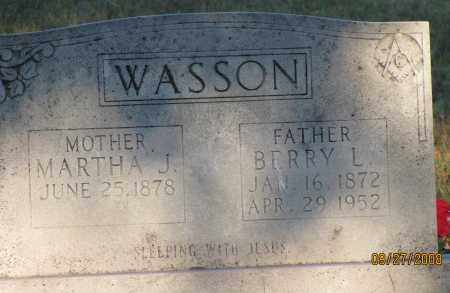 WASSON, BERRY L - Van Buren County, Arkansas | BERRY L WASSON - Arkansas Gravestone Photos