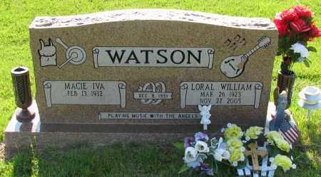 WATSON, LORAL WILLIAM - Van Buren County, Arkansas | LORAL WILLIAM WATSON - Arkansas Gravestone Photos