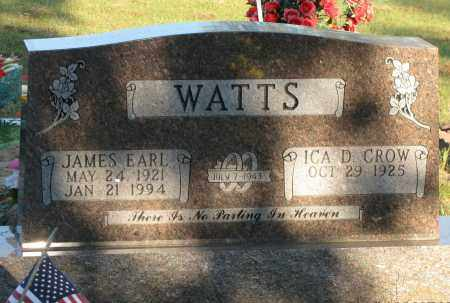 WATTS, JAMES EARL - Van Buren County, Arkansas | JAMES EARL WATTS - Arkansas Gravestone Photos