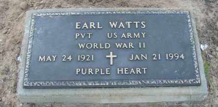 WATTS (VETERAN WWII), EARL - Van Buren County, Arkansas | EARL WATTS (VETERAN WWII) - Arkansas Gravestone Photos
