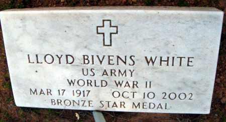 WHITE (VETERAN WWII), LLOYD BIVENS - Van Buren County, Arkansas | LLOYD BIVENS WHITE (VETERAN WWII) - Arkansas Gravestone Photos