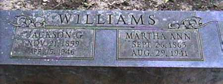 WILLIAMS, JACKSON G. - Van Buren County, Arkansas | JACKSON G. WILLIAMS - Arkansas Gravestone Photos