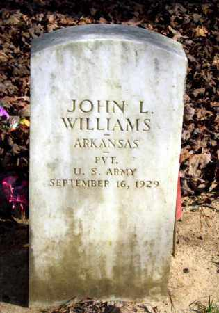 WILLIAMS (VETERAN), JOHN L - Van Buren County, Arkansas | JOHN L WILLIAMS (VETERAN) - Arkansas Gravestone Photos