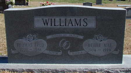 PISTOLE WILLIAMS, HETTIE MAE - Van Buren County, Arkansas | HETTIE MAE PISTOLE WILLIAMS - Arkansas Gravestone Photos