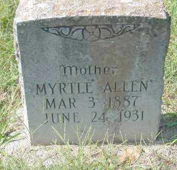 ALLEN, MYRTLE - Washington County, Arkansas | MYRTLE ALLEN - Arkansas Gravestone Photos