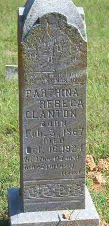 CLANTON, PARTHINA REBECA - Washington County, Arkansas | PARTHINA REBECA CLANTON - Arkansas Gravestone Photos