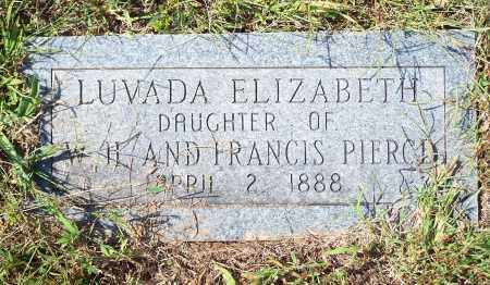 PIERCE, LUVADA ELIZABETH - Washington County, Arkansas | LUVADA ELIZABETH PIERCE - Arkansas Gravestone Photos