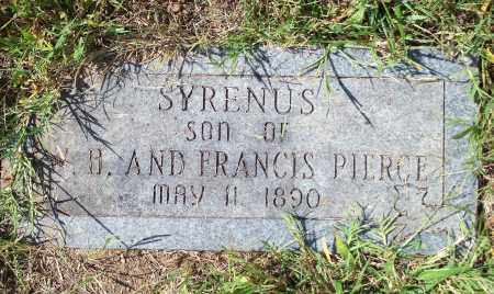 PIERCE, SYRENUS - Washington County, Arkansas | SYRENUS PIERCE - Arkansas Gravestone Photos
