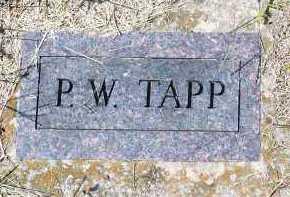 TAPP, P W - Washington County, Arkansas | P W TAPP - Arkansas Gravestone Photos