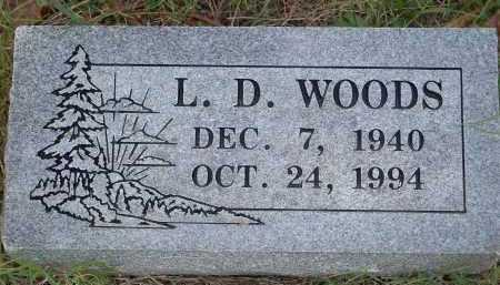 WOODS, L D - Washington County, Arkansas | L D WOODS - Arkansas Gravestone Photos