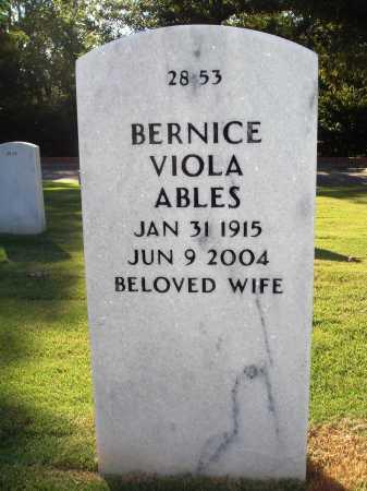 WILLIAMS ABLES, BERNICE VIOLA - Washington County, Arkansas | BERNICE VIOLA WILLIAMS ABLES - Arkansas Gravestone Photos