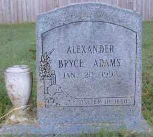 ADAMS, ALEXANDER BRYCE - Washington County, Arkansas | ALEXANDER BRYCE ADAMS - Arkansas Gravestone Photos