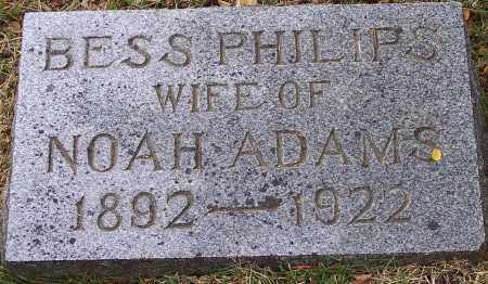 PHILLIPS ADAMS, BESS - Washington County, Arkansas | BESS PHILLIPS ADAMS - Arkansas Gravestone Photos